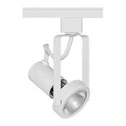 Juno Lighting - Trac-Master T362 PAR20 Open Back Gimbal Track Light, T362wh - The clean, functional lines of the open back allows maximum adjustability. Open Back Spotlights relamp from back and have floating socket mount and on/off switch. The minimum profile with stylized yoke design is ideal for retail and commercial applications.