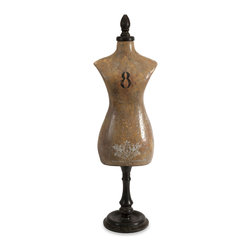 Alexis Vintage Dress Form - The Alexis vintage dress form made from wood has a versatile style and appeal. Looks fabulous in a French country setting or on a shabby chic dressing table!