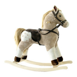 """Alexander Taron - Small Plush Rocking Horse - Features: -Rocking horse toy. -With sound effects. -For ages 3 and up. -Very strong frame. -Able to hold 180 pounds. -Colors may vary slightly from the picture. Specifications: -Overall dimensions: 26"""" H x 22"""" W x 8"""" D."""