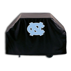 """Holland Bar Stool - Holland Bar Stool GC-NorCar North Carolina Grill Cover - GC-NorCar North Carolina Grill Cover belongs to College Collection by Holland Bar Stool This North Carolina grill cover by HBS is hand-made in the USA; using the finest commercial grade vinyl and utilizing a step-by-step screen print process to give you the most detailed logo possible. UV resistant inks are used to ensure exeptional durablilty to direct sun exposure. This product is Officially Licensed, so you can show your pride while protecting your grill from the elements of nature. Keep your grill protected and support your team with the help of Covers by HBS!"""" Grill Cover (1)"""