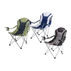 Picnic Time - Picnic Time Reclining Camp Chair - Take the comfort of a reclining chair with you anywhere. This reclining camp chair makes any outdoor activity more comfortable with 3 different seating positions and adjustable armrests.