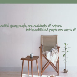 Beautiful Young People Vinyl Wall Decal Agequotes01, White, 18 in. - Vinyl Wall Quotes are an awesome way to bring a room to life!