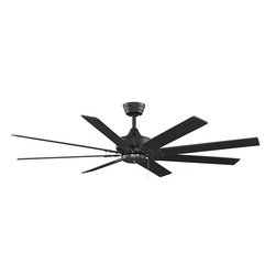 """Fanimation - Fanimation Levon 63"""" Tropical Ceiling Fan X-LB0197PF - The Levon by Fanimation is not only stylish, but also economically smart and environmentally friendly. The Levon is in an elite class of fans that have earned the Energy Star rating by meeting strict energy efficiency guidelines. In essence, The Levon will add contemporary sophistication to your home while conserving your financial resources and the environment. The Levon's eight blades can be operated on three forward and reverse speeds to create just the right breeze for any temperature. The Levon is available in oil rubbed bronze finish with walnut blades and accommodates a ceiling slope up to 30 degrees"""