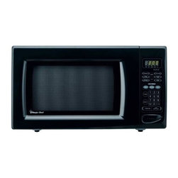 MAGIC CHEF - MAGIC CHEF MCD1611B 1.6 Cubic-ft, 1,100-Watt Microwave with Digital Touch (Black - � 1.6 cu ft capacity;� 1,100W;� Digital touch;� 10 power levels;� 6 preprogrammed 1-touch cooking menus for popcorn, frozen pizza, dinner plate, beverage & fresh & frozen vegetables;� 3 auto-defrost settings for meat, poultry & fish;� Kitchen timer;� Push-button door;� Child safety lock;� Black