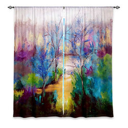 """DiaNoche Designs - Window Curtains Unlined - Ruth Palmer And God Saw That It Was Good - Purchasing window curtains just got easier and better! Create a designer look to any of your living spaces with our decorative and unique """"Unlined Window Curtains."""" Perfect for the living room, dining room or bedroom, these artistic curtains are an easy and inexpensive way to add color and style when decorating your home.  This is a woven poly material that filters outside light and creates a privacy barrier.  Each package includes two easy-to-hang, 3 inch diameter pole-pocket curtain panels.  The width listed is the total measurement of the two panels.  Curtain rod sold separately. Easy care, machine wash cold, tumbles dry low, iron low if needed.  Made in USA and Imported."""