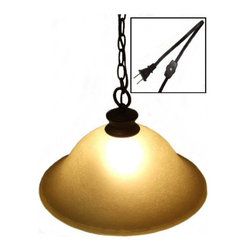 Dolan Designs - Glass Shade Swag Lamp Oil Rubbed Bronze - I'm a Plug In Swag Light!