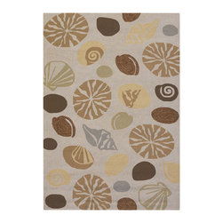 """Couristan - Outdoor Escape Barnegat Bay Rug 2121/5152 - 5'6"""" x 8' - Complementing trends in both outdoor furniture and interior whimiscal fashions, the Outdoor Escape Collection is a go-to resource for home decorators with themed decors. Perfect for a multitude of spaces, like covered outdoor patios, decks, sunrooms and kitchens, the beach landscape motifs offered in these novelty area rugs will bring a fun and energentic feeling to any room. Have fun with the colors offered in each design let theme dictate your overall decorating scheme and brighten your setting of choice."""