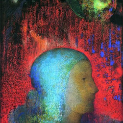"""Odilon Redon Joan of Arc - 16"""" x 24"""" Premium Archival Print - 16"""" x 24"""" Odilon Redon Joan of Arc premium archival print reproduced to meet museum quality standards. Our museum quality archival prints are produced using high-precision print technology for a more accurate reproduction printed on high quality, heavyweight matte presentation paper with fade-resistant, archival inks. Our progressive business model allows us to offer works of art to you at the best wholesale pricing, significantly less than art gallery prices, affordable to all. This line of artwork is produced with extra white border space (if you choose to have it framed, for your framer to work with to frame properly or utilize a larger mat and/or frame).  We present a comprehensive collection of exceptional art reproductions byOdilon Redon."""