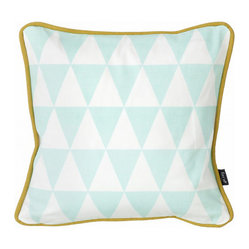 Little Geometry Pillow, Mint