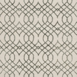 """Loloi Rugs - Loloi Rugs Panache Collection - Ivory / Grey, 2'-3"""" x 7'-6"""" - Distinguished by its textural effects and mix of fibers, the Panache Collection looks and feels like no other geometric patterned rug. The base of each Panache is hooked with wool for natural comfort, while the design is a raised pile of viscose that shines beautifully. Available in tonal, easy-to-match-anywhere colors and a variety of sizes."""