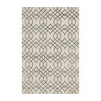 """Loloi Rugs - Loloi Rugs Panache Collection, Ivory amd Grey, 9'-3""""x13' - Distinguished by its textural effects and mix of fibers, the Panache Collection looks and feels like no other geometric patterned rug. The base of each Panache is hooked with wool for natural comfort, while the design is a raised pile of viscose that shines beautifully. Available in tonal, easy-to-match-anywhere colors and a variety of sizes."""