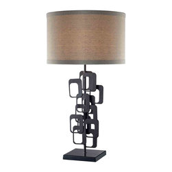 Dimond Lighting - Dimond Lighting D2135 Griffin Matte Black Table Lamp - Dimond Lighting D2135 Griffin Matte Black Contemporary Table Lamp