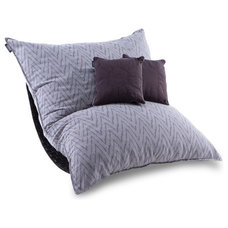 Contemporary Chairs Limited Edition Amira Purple Tweed Pillowsac Package