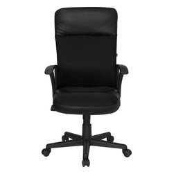 Flash Furniture - High Back Leather / Mesh Combination Executive Swivel Office Chair - This value priced mesh office task chair will accommodate your essential needs for your home or office. Chair features a breathable mesh back with a comfortably padded leather seat. Chair is height adjustable to conform to several desk sizes.
