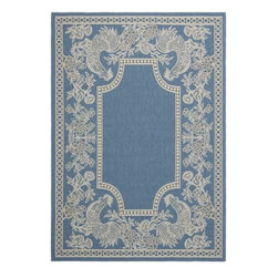 "Safavieh - Safavieh Courtyard CY3305-3103 8' x 11'2"" Blue, Natural Rug - Safavieh's Courtyard collection was created for today's indoor/outdoor lifestyle. These beautiful but practical rugs take outdoor decorating to the next level with new designs in fashion-forward colors and patterns from classic to contemporary. Made in Turkey with enhanced polypropylene for extra durability, Courtyard rugs are pre-coordinated to work together in related spaces inside or outside the home."