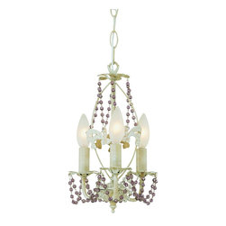 Trans Globe Lighting - Trans Globe Lighting 50307 AW The Olde World Traditional Chandelier - With purple beads.