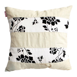 Blancho Bedding - Flowing Flowers Linen Patch Work Pillow Floor Cushion  19.7 by 19.7 inches - Aesthetics and Functionality Combined. Hug and wrap your arms around this stylish decorative pillow measuring 19.7 by 19.7 inches, offering a sense of warmth and comfort to home buddies and outdoors people alike. Find a friend in its team of skilled and creative designers as they seek to use materials only of the highest quality. This art pillow by Onitiva features contemporary design, modern elegance and fine construction. The pillow is made to have invisible zippers, linen shells and fill-down alternative. The rich look and feel, extraordinary textures and vivid colors of this comfy pillow transforms an ordinary, dull room into an exciting and luxurious place for rest and recreation. Suitable for your living room, bedroom, office and patio. It will surely add a touch of life, variety and magic to any rooms in your home. The pillow has a hidden side zipper to remove the center fill for easy washing of the cover if needed.