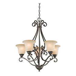 Kichler - Camerena Olde Bronze Five-Light Chandelier - - Camerena Olde Bronze Five-Light Chandelier Kichler - 43224OZ