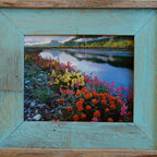 MyBarnwoodFrames - 4x6 Barnwood Picture Frame Lighthouse Robin Egg Blue Rustic Wood Frame - Choose  this  handcrafted  barnwood  frame  to  turn  your  simple  photograph  into  a  true  piece  of  artwork.   The  use  of  natural  and  reclaimed  woods  in  this  blue  picture  frame  helps  to  make  it  stand  out.   Instead  of  a  simple  frame  you  now  have  a  quality  piece  of  handcrafted  artwork  to  display  in  your  home  or  office.   The  use  of  wood  or  reclaimed  wood  also  makes  this  frame  more  eco-friendly  as  well  as  adds  that  element  of  nature  to  your  decor.   Whether  you  are  looking  to  frame  a  large  print  or  a  simple  snapshot,  you  can't  go  wrong  choosing  one  of  our  blue  barnwood  frames.