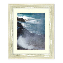 frames by mail wall picture frame ivory with moss silver