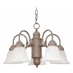 """Volume Lighting - Volume Lighting V4325 Marti 5 Light 14"""" Height 1 Tier Chandelier - Five Light 14"""" Height 1 Tier Chandelier from the Marti CollectionEmbellish your home d�cor with this 5 light chandelier featuring 1 tier and flawless alabaster glass.Features:"""
