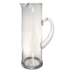 Alan Lee Collection - Princess Collection 50oz Glass Pitcher - A gorgeous tall and slender glass pitcher adorned with hand applied cut crystal along the outside base. Truly the best way to serve your favorite drinks to your most deserving guests.