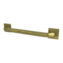 Kingston Brass - 16in. Decorative Grab Bar - Fabricated from solid brass material for durability and reliability, 1-1/4in. gripping surface on grab bar, Easy to install, 1-1/2in. (38mm) wall clearance meets ADA standard, Mounting hardware included (2x#10 Philips Head Screw. Total 6pcs), 16in. overall length, 1-1/4in. outer diameter, One Year Limited Warranty to the original consumer to be free from defects in material and finish.
