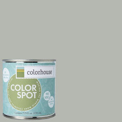 ColorSpot Eggshell Interior Paint Sample, Metal .03,  8-oz - Test color before you paint with the Colorhouse Colorspot 8-oz  paint sample. Made with real paint and in our most popular eggshell finish, Colorhouse paints are 100% acrylic with NO VOCs (volatile organic compounds), NO toxic fumes/HAPs-free, NO reproductive toxins, and NO chemical solvents. Our artist-crafted colors are designed to be easy backdrops for living.