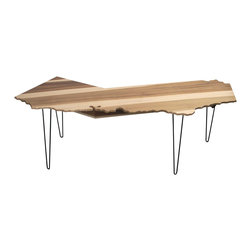 Monkwood - California Home Office Desk w/ Under-shelf, 5ft - This California shaped desk was inspired by my return back to California a few years back. It also features a discreet, yet robust under shelf to hide cables as well as store your office supplies, cables, modems and hardrives.