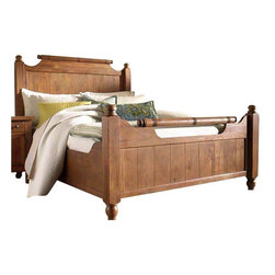 Broyhill - Broyhill Attic Heirlooms Weathered and Distressed Feather Bed - Broyhill - Beds - 439X5XXFeatherBed - About This Product: