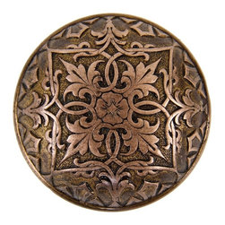 Vintage Hardware - finely cast c. 1869-71 american high victorian ornamental cast bronze passage size banded rim doorknob with palmette border and centrally located rosette - metallic compression casting co., boston, ma.