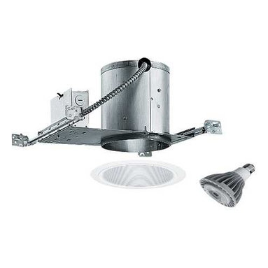 Juno Lighting Group - 6-inch Recessed Lighting Kit with 15-Watt Led Bulb - IC22/24W-WH LED - This recessed lighting kit features an air-tight installation that stops the infiltration and exfiltration of air, which reduces heating and cooling costs. The white tapered baffle interior has a 5-3/8-inch aperture and a white trim ring. Included is an energy savings dimmable 15-watt LED lamp. This lamp is based on a breakthrough and patented technology to last 6 times longer than compact fluorescent bulbs and 35 times longer than an incandescent. Features a medium base with white diffuser and vented heat sink. Takes (1) 15-watt LED PAR30 bulb(s). Bulb(s) included. Dry location rated.