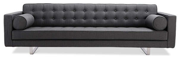 Modern Sofas Chelsea Dark Grey 3-Seat Couch (Sliders)