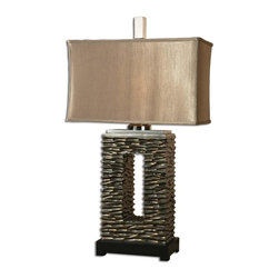 Uttermost - Uttermost 27765-1 Tarin Table Lamp - Uttermost is one of the largest manufacturers of interior lamps, wall art, clocks, rugs and framed mirrors in the United States, attributing its success to maximizing product value through better design and sharp pricing.