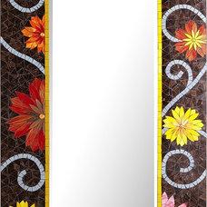 Floral Mosaic Floor Mirror