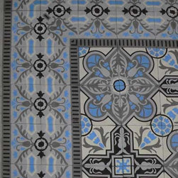 Cuban Heritage Design Handmade Cement Tile - The backsplash in this kitchen stopped me in my tracks the first time I saw it. So beautiful! You can recreate the look in your own home with these handmade tiles.