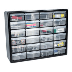 The Black Hardware Storage Cabinet with 24 Drawers - Get that craft room or home office organized by grouping together items in easy-to-find storage bins. Place this in a closet or cabinet for easy access. It's great for kids' school supplies too.