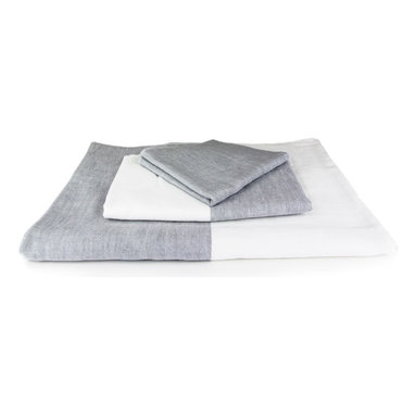 "Morihata - Yoshii - Two Tone Chambray, Gray and White, Bath Towel - The secret to the natural softness of Yoshii towels is the use of exceptionally soft twisted ring threads called ""Shankar 6."" These threads are made from 100% hand-picked raw materials, cultivated with few agricultural chemicals. Seeds are allowed to naturally separate from the cotton to avoid tearing any fibers. Because of the exceptional care taken with materials, every Yoshii towel is fast drying, superior at water absorption and easy on the environment. Yoshii towels are extremely lightweight and pack tightly, making them very travel-friendly. 100% Cotton. Available in Blue/White and Gray/White."