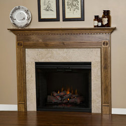 Glacier Wood Fireplace Mantel - The detailing of the Glacier Wood Fireplace Mantel makes for an exquisite focal point for any room.