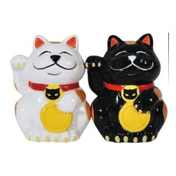 Westland - 3.25 Inch Good Luck Cats Waving Kitchenware Salt and Pepper Shakers - This gorgeous 3.25 Inch Good Luck Cats Waving Kitchenware Salt and Pepper Shakers has the finest details and highest quality you will find anywhere! 3.25 Inch Good Luck Cats Waving Kitchenware Salt and Pepper Shakers is truly remarkable.