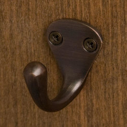 Rowan Single Brass Coat Hook - This single hook has endless possibilities! Add a few to your entryway for jackets and hats, your bathroom for robes and towels, or even your kitchen for pot holders and aprons.