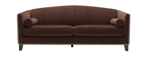"Sunpan Modern - Portico Sofa - Features: -Material: Fabric / Microfiber.-Frame: Solid wood.-Graceful contoured back gives this sofa.-Portsmouth.-Refined yet contemporary.-Seat and back are filled with a combination of foam and feather.-Nicely finished with silver nail head.-Please note that although every attempt has been made to ensure accuracy, all dimensions are approximate.-Distressed: No.-Collection: Portico.-Frame Finish: Espresso.-Powder Coated Finish: No.-Gloss Finish: No.-Frame Material: Hardwood.-Upholstery Material: Cotton/Polyester Blend.-Solid Wood Construction: Yes.-Number of Items Included: 1.-Water Resistant: No.-Fire Resistant : Yes.-Scratch Resistant: No.-Stain Resistant: No.-Mildew Resistant: No.-Fade Resistant: No.-Tear Resistant: No.-Style: Traditional.-Pattern: Solid.-Removable Seat Cushions: Yes.-Removable Back Cushions: No.-Cushion or Upholstery Fill Material: Foam.-Foam Density: 2.1 lbs per cubic foot.-Welt on Cushions: Yes.-Tufted Cushions: No.-Rocker: No.-Massage: No.-Reclines: No.-Legs Included: Yes -Removable Legs : Yes.-Leg Material : Wood.-Leg Finish: Espresso.-Leg Glides : Yes..-Adjustable Headrest: No.-Nailhead Trim: Yes.-Cupholders: No.-Skirted: No.-Arm Style: Track Arms.-Back Style: Tight Back.-Slipcovered: No.-Storage: No.-Console Included: No.-Seating Comfort: Medium.-Outdoor Use: No.-Seating Capacity: 4.-Weight Capacity: ``.-Swatch Available: Yes.-Application: Both.-Recycled Content: No.Dimensions: -Seat height: 18.5''.-Arm height: 28''.-Overall: 34"" H x 82.5"" W x 33"" D.-Overall Product Weight: 109 lbs.-Overall Height - Top to Bottom: 33"".-Overall Width - Side to Side: 81.5"".-Overall Depth - Front to Back: 33"".-Seat Height - Top to Bottom: 18.5"".-Arms: -Arm Height - Top to Bottom: 29""..-Legs: -Leg Width - Side to Side: 2"".-Leg Depth - Front to Back: 2""..-Seat Cushion: Yes.-Back Cushion: No.-Fully Reclined: No.-Storage Space: No.-Toss Pillows: Yes.Assembly: -Assembly Required: No.Warranty: -This item is deemed acceptable for both residential and nonresidential environments such as restaurants, hotels, lounges, offices and reception areas. Please note that this item carries the manufacturer's standard ONE YEAR WARRANTY from the date of purchase. Please contact Wayfair customer service or sales representatives for further information."