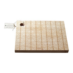 Richwood Creations - Solid Wood Herringbone Pattern Cutting Board, Maple, 16x11 - This laser engraved herringbone pattern is a unique style of cutting board. Add some flare to your kitchen with a piece of handmade fashion! Available in cherry or maple wood, and also various sizes.