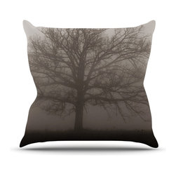 "Kess InHouse - Angie Turner ""Lonely Tree"" Dark Fog Throw Pillow (26"" x 26"") - Rest among the art you love. Transform your hang out room into a hip gallery, that's also comfortable. With this pillow you can create an environment that reflects your unique style. It's amazing what a throw pillow can do to complete a room. (Kess InHouse is not responsible for pillow fighting that may occur as the result of creative stimulation)."
