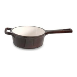 Berghoff - BergHOFF Neo Cast Iron 2.1 Quart Open Saucepan - The Neo cast iron series is a modern collection that marries function, design and innovative use of materials to create an outstanding line of cast iron cookware.