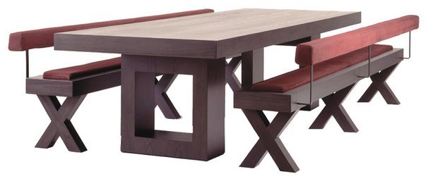 Contemporary Dining Benches by Tomas Frenes Design Studio