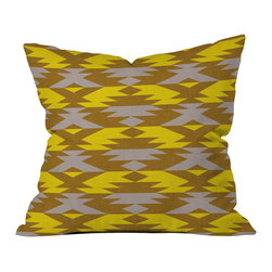 DENY Designs - Holli Zollinger Bright Native Diamond Throw Pillow - Wanna transform a serious room into a fun, inviting space? Looking to complete a room full of solids with a unique print? Need to add a pop of color to your dull, lackluster space? Accomplish all of the above with one simple, yet powerful home accessory we like to call the DENY throw pillow collection! Custom printed in the USA for every order.
