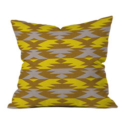 Holli Zollinger Bright Native Diamond Outdoor Throw Pillow - Do you hear that noise? it's your outdoor area begging for a facelift and what better way to turn up the chic than with our outdoor throw pillow collection? Made from water and mildew proof woven polyester, our indoor/outdoor throw pillow is the perfect way to add some vibrance and character to your boring outdoor furniture while giving the rain a run for its money.