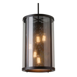 Feiss - Bluffton Outdoor Chandelier - Bluffton Outdoor Chandelier is available in a Oil Rubbed Bronze finish with Clear glass. Five 100 watt, 120 volt Edison A Shape type Medium base Incandescent lamps are required but not included. 15 inch width x 24.75 inch height x 81.5 inch length. CUL-US Listed for Damp Locations.