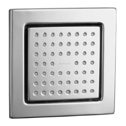 Kohler - Kohler K-8002-CP Polished Chrome WaterTile Modern 54 Nozzle - WaterTile(R) 54-Nozzle Body Spray With their flush to the wall, low-profile design, WaterTile(tm) bodysprays and showerheads are a harmonious marriage of form and function. This WaterTile 54-nozzle bodyspray delivers a voluminous, soothing hydrotherapy experience. Its fully adjustable, pivoting MasterClean(tm) sprayface resists mineral buildup for years of reliable performance.  54 MasterClean(tm) spray nozzles provide a soothing water experience  Low profile design complements any décor  Fully adjustable sprayface allows for a variety of installation options